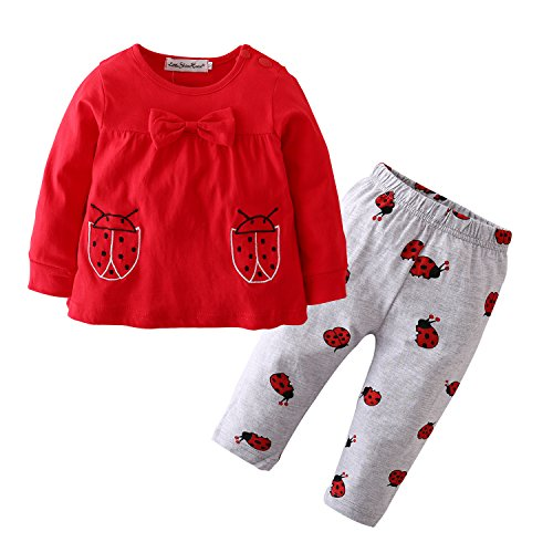 Girls Ladybird Age 0-3months 2-piece Pant Set Baby