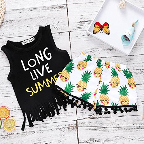 b304bd268fc0 At this point that you are looking at certainly one of my article with  regards to 2Pcs/Set Fashion Toddler Kids Baby Girl Sleeveless T-Shirt Top+Pineapple  ...