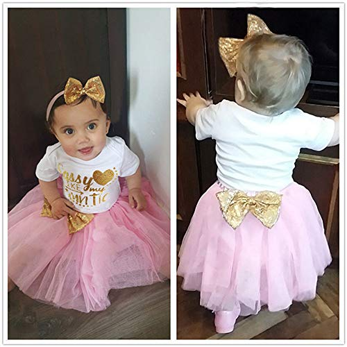Baby Girl 1st Birthday Dress Tutu Princess Party Outfits Sets Clothes 4pcs Suits
