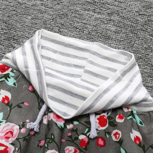 Mary ye 2pcs Baby Girls Cute Floral Off Shoulder Tops Pink Tutu Skirts