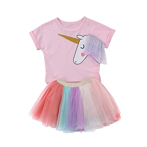 Baby Girl Sister Outfits Ruffle Sleeveless T-Shirt Tops Sequined Tutu Skirt 2PCS Summer Clothes