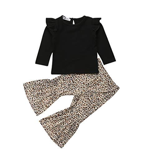 161d3f1871ac Right now you are studying one of our submit concerning Baby Girls Lace Off  Shoulder Ruffle T Shirt Top+ Leopard Print Bell Bottom Pant ...