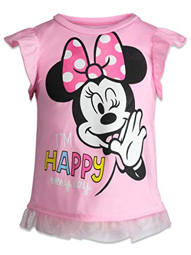 538ae01f3 Short Sets – Disney Minnie Mouse Baby Girls' High-Low Ruffle Tunic & Bike  Shorts Outfit Set (Light Pink, 24 Months)
