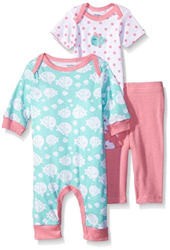 NEW Gerber Baby Girls Newborn 3 Piece Bodysuit Cap and Legging Set 3-6 mos.