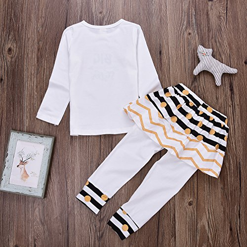 Baby Girl Big /&Little Sister Bodysuit Tops Bowknot Striped Skirts Dress Set