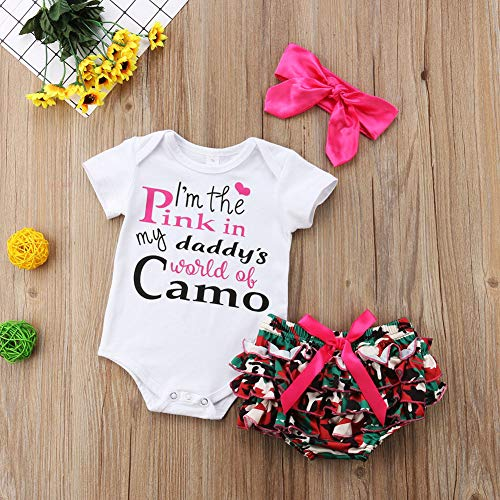 Short Sets Newborn Baby Girls Clothes I M The Pink In My Daddy S