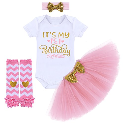 ff1a26eae Skirt Sets – Newborn Baby Infant Toddler Girls It's My 1st Birthday Cake  Smash Romper Bodysuit Jumpsuit Headband Shoes Outfit Pink 1st Birthday 1  Year ...