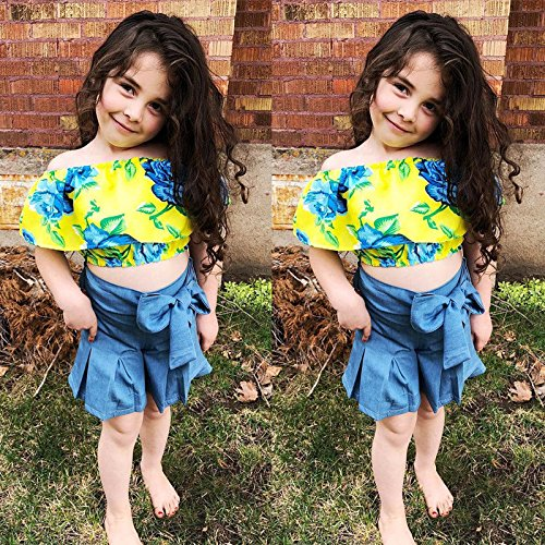Toddler Kids Baby Girls Outfits Clothes T-shirt Tops+Pants//Shorts//Skirt 2PCS Set