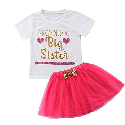 Tutu Dress Skirt 3PCS Set Toddler Kids Baby Girls Outfits Clothes T-shirt Tops