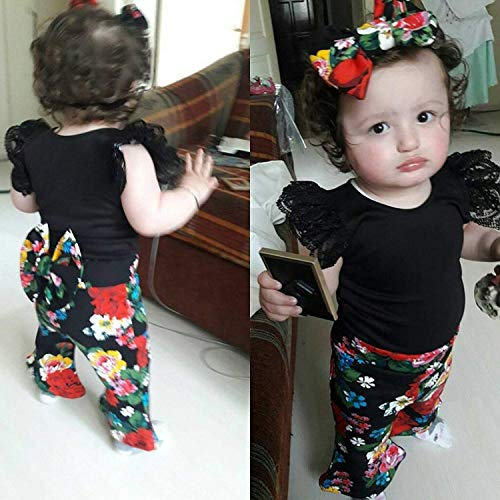 Leopard Print Bell Bottom Pant Outfits Sets Specialcal Baby Girls Lace Off Shoulder Ruffle T Shirt Top